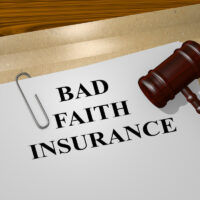 Bad Faith Insurance legal concept