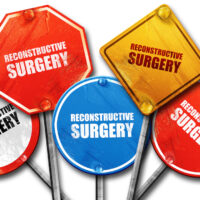 reconstructive surgery, 3D rendering, street signs