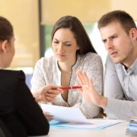 Customers rejecting contract at office